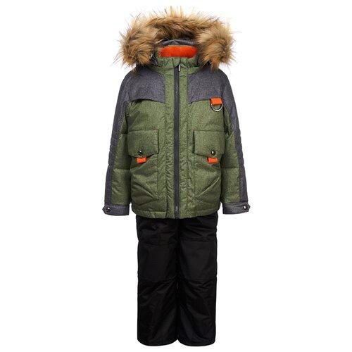 Фото - Комплект с полукомбинезоном Oldos Эрнест OAW191T1SU57 размер 110, зеленый/серый куртка oldos гари ass201rjk04 размер 110 зеленый