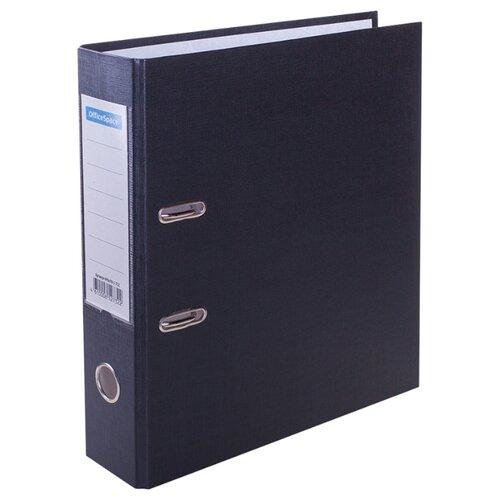 Купить OfficeSpace Папка-регистратор с карманом на корешке A4, бумвинил, 70 мм черный, Файлы и папки