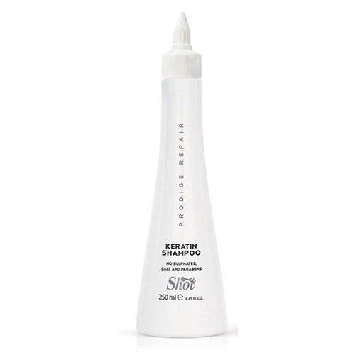 Shot шампунь Prodige Repair Keratin для глубокого восстановления поврежденных волос 250 мл shot keratin shampoo