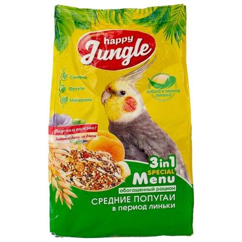 Happy Jungle Корм Special Menu для средних попугаев в период линьки 500 г