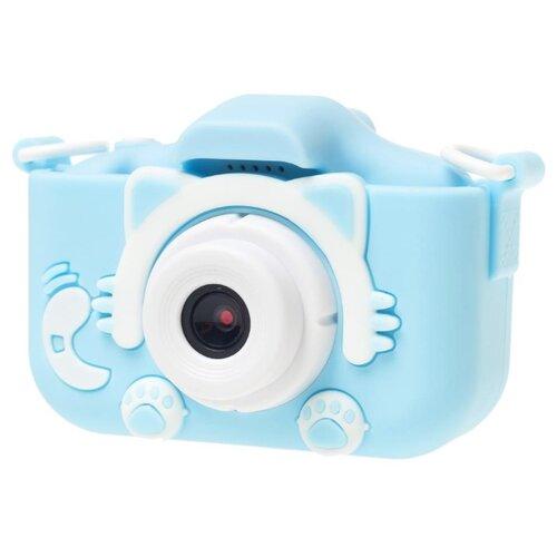 Фото - Фотоаппарат GSMIN Fun Camera Kitty со встроенной памятью и играми голубой фотоаппарат