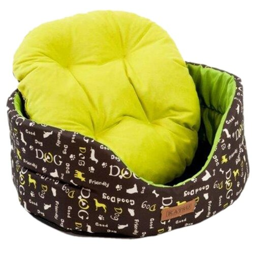 Лежак для собак и кошек Katsu Yohanka Shine Dogs 2 46х32х18 см зеленый