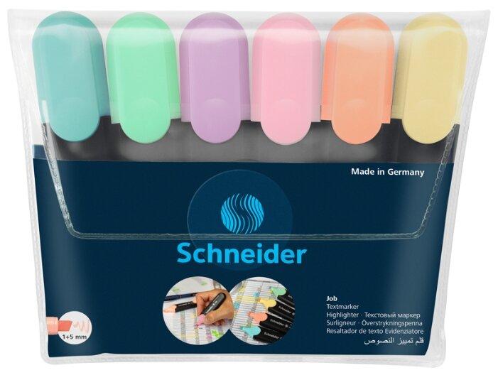Schneider Набор текстовыделителей Job (115097), 6 шт.