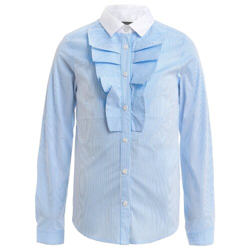 Блузка Gulliver размер 170, белый/голубой платье oodji ultra цвет красный белый 14001071 13 46148 4512s размер xs 42 170
