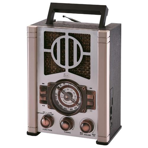 Радиоприемник Max MR-352 металлик