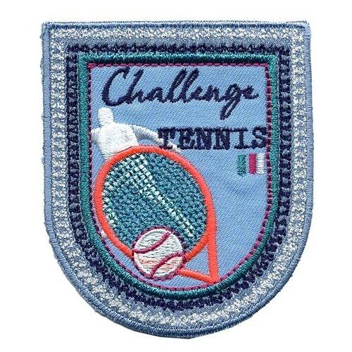 Термоаппликация HKM Textil Большой теннис 10.5х6 см голубой