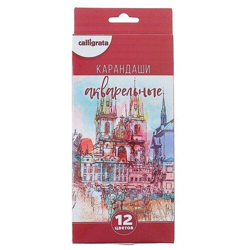 Купить Calligrata Набор цветных карандашей Акварельные 12 цветов (3883845), Цветные карандаши