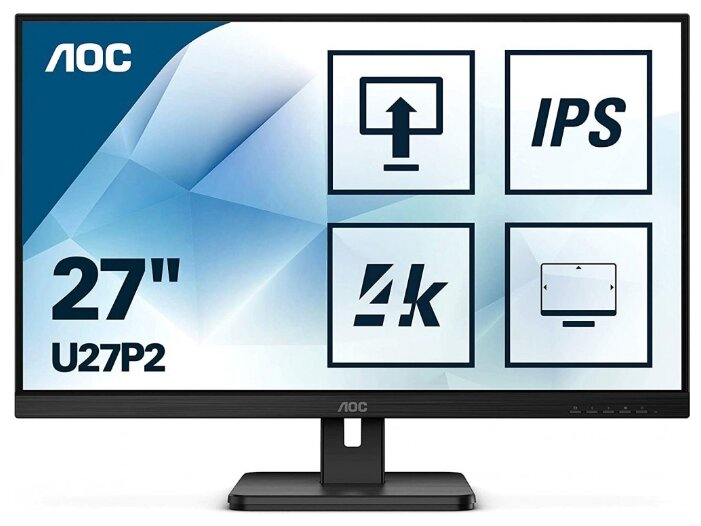 """Монитор AOC U27P2 27"""" — купить по выгодной цене на Яндекс.Маркете"""