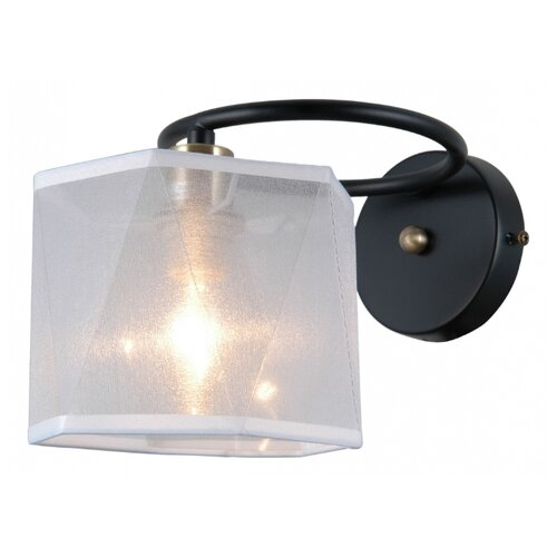 Настенный светильник Natali Kovaltseva 76056/1W Matt Black, 40 Вт natali kovaltseva бра natali kovaltseva alps 11368 1w wenge венге
