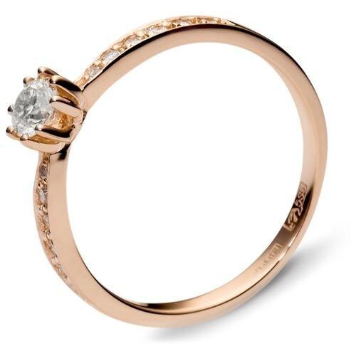 Эстет Кольцо с 13 бриллиантами из красного золота 01К613337, размер 16.5 фото