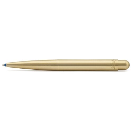 Kaweco ручка шариковая Liliput Eco Brass 1.0 мм, синий цвет чернил