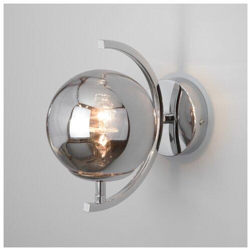 бра eurosvet 1188 1b хром Настенный светильник Eurosvet 50072/1B хром