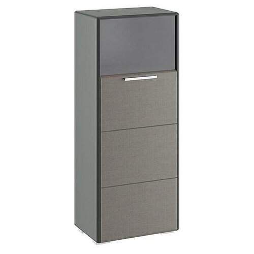 Шкаф-пенал для гостиной ТриЯ Наоми ТД-208.07.28, (ШхГхВ): 54.4х34х132.2 см, Фон серый/Джут