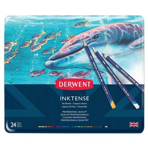 Купить Derwent Акварельные карандаши Inktense 24 цвета (D-0700929), Цветные карандаши