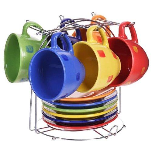 Чайный сервиз Loraine 27321 13 предметов разноцветный бульонница loraine бабочка 580 мл