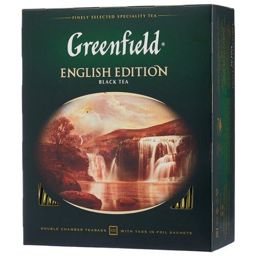 Чай черный Greenfield English Edition в пакетиках, 100 шт. greenfield english edition черный листовой чай 100 г