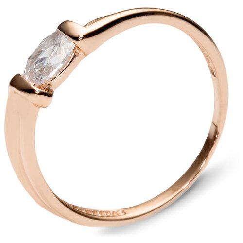 Эстет Кольцо с 1 фианитом из красного золота 01К110642, размер 17.5 эстет кольцо с 1 фианитом из красного золота 01к110642 размер 17 5