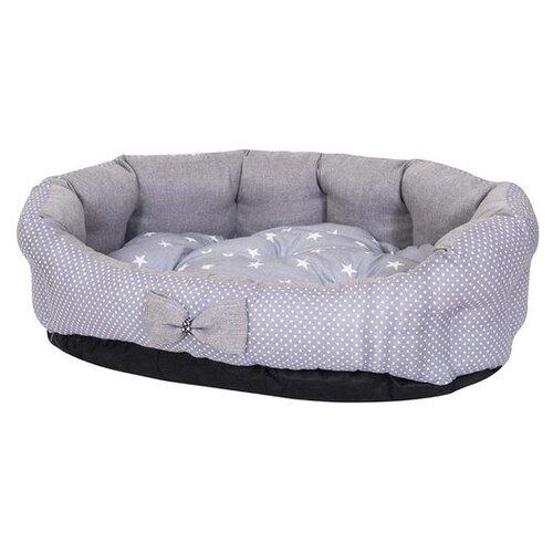 Лежак для собак и кошек HutPets MiniCot L 90х70 см Gray Peas