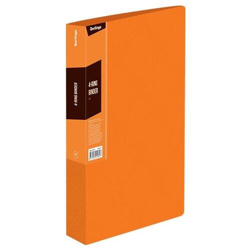 Купить Berlingo Папка на 4-х кольцах Color zone А4, пластик оранжевый, Файлы и папки