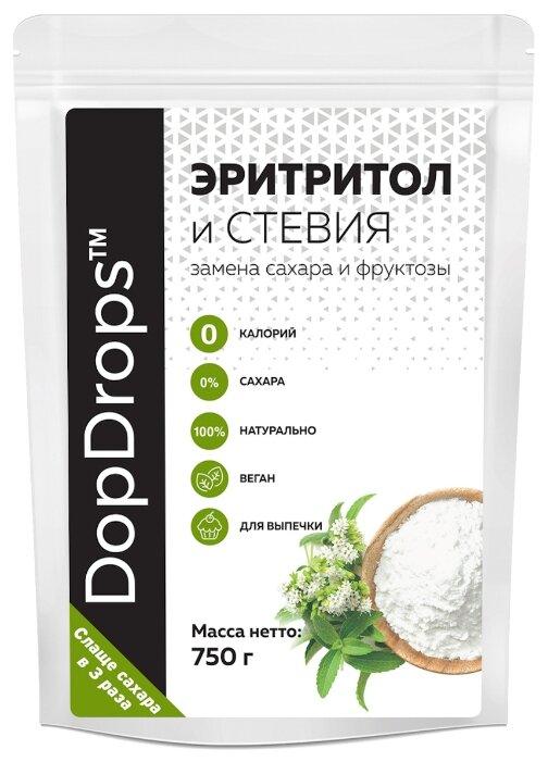 DopDrops сахарозаменитель эритритол (сладость 3:1) порошок