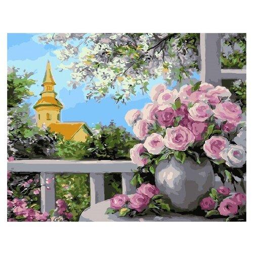 Купить ВанГогВоМне Картина по номерам Розы на балконе , 40х50 см (ZX 22129), Картины по номерам и контурам