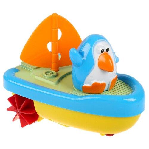 Фото - Игрушка для ванной Умка Пингвиненок-капитан (ZY187767-R) голубой/желтый/оранжевый игрушка для ванной funny ducks ныряльщик уточка 1864 желтый оранжевый голубой