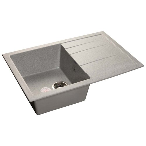 Врезная кухонная мойка 76.4 см GranFest Quadro GF-Q780L серый кухонная мойка черный granfest quadro gf q780l