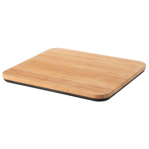 доска разделочная бамбуковая 40х22х3см для хлеба berghoff studio 1101729 Разделочная доска BergHOFF Ron 30х26х2 см бежевый/черный