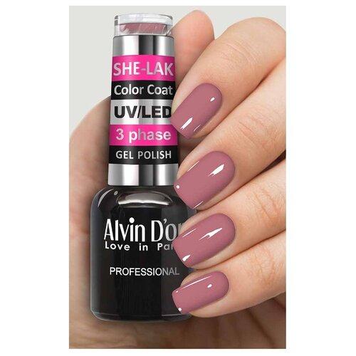 Фото - Гель-лак для ногтей Alvin D'or She-Lak Color Coat, 8 мл, оттенок 3510 гель лак для ногтей cosmoprofi color coat 15 мл оттенок 027