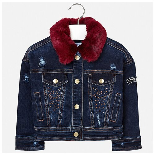 Купить Куртка Mayoral размер 110, синий, Куртки и пуховики