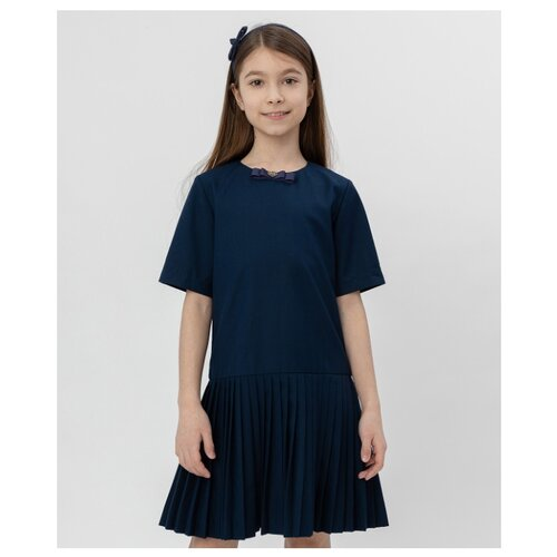 Купить Платье Button Blue размер 164, синий, Платья и сарафаны