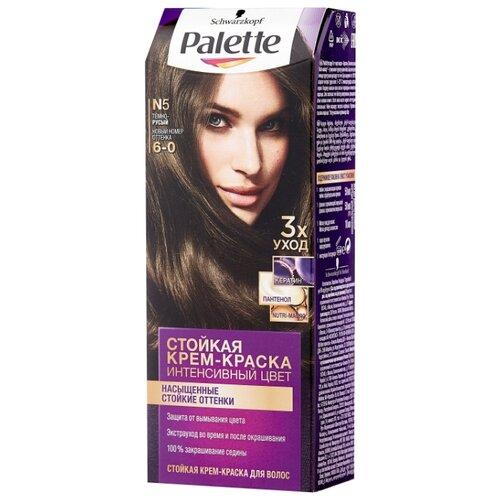Palette Интенсивный цвет Стойкая крем-краска для волос, N5 6-0 Тёмно-русый