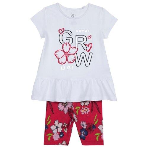 Купить Комплект одежды Chicco размер 98, белый/красный, Комплекты и форма