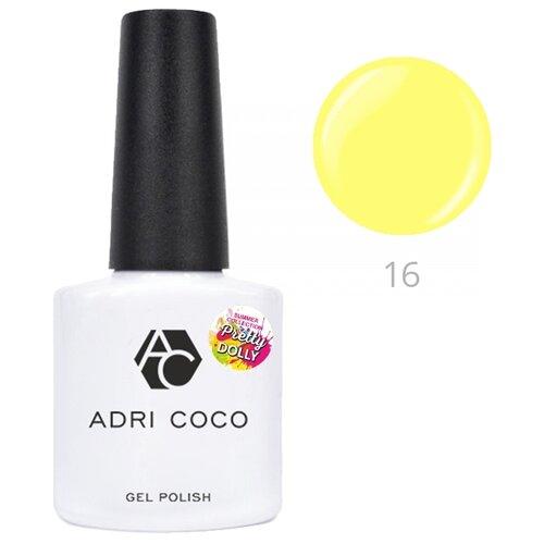 Гель-лак для ногтей ADRICOCO Pretty dolly, 8 мл, оттенок 16 неоновый желтый