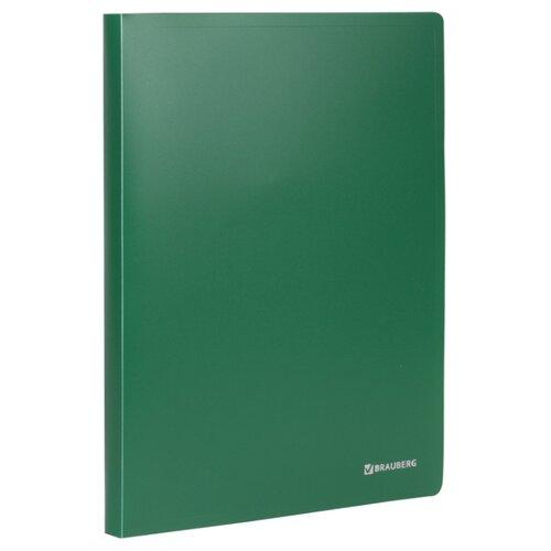 Купить BRAUBERG Папка на 2 кольцах Office А4, 25 мм зеленая, Файлы и папки