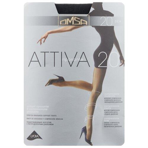 Колготки Omsa Attiva 20 den, размер 3-M, nero (черный) колготки omsa silhouette 15 den размер 3 m nero