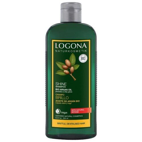 Фото - Logona шампунь для восстановления блеска волос с Био-Аргановым маслом 250 мл logona шампунь treatment juniper против перхоти с маслом био можжевельника 250 мл