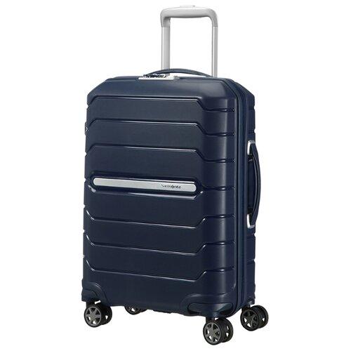 Чемодан Samsonite Flux S 44 л, Темно-синий/Navy Blue чемодан samsonite flux m 95 л темно синий navy blue