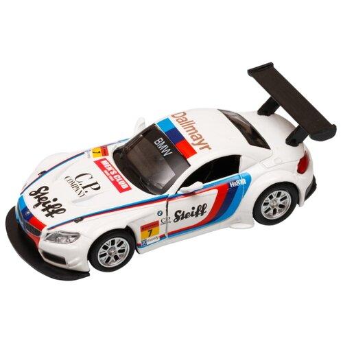 Купить Легковой автомобиль Автопанорама BMW Z4 GT3 (JB1251220) 1:38 11 см белый, Машинки и техника