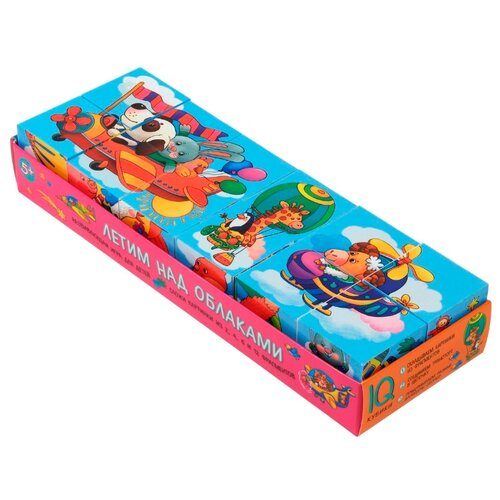 Купить Кубики-пазлы Айрис-Пресс умные Летим над облаками, Детские кубики