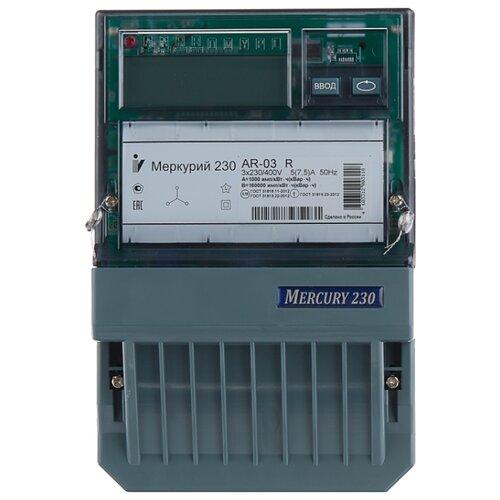 Счетчик электроэнергии трехфазный однотарифный INCOTEX Меркурий 230 АR-03 R 5(7.5) А
