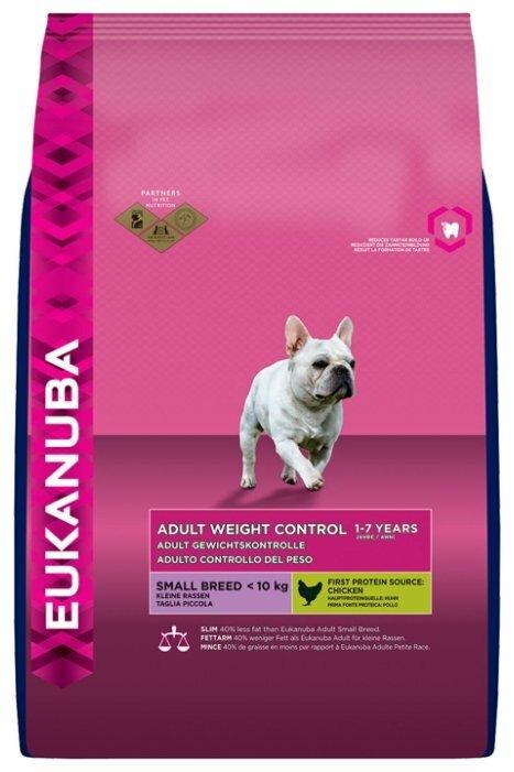 Корм для собак Eukanuba для здоровья кожи и шерсти, курица 3 кг (для мелких пород)