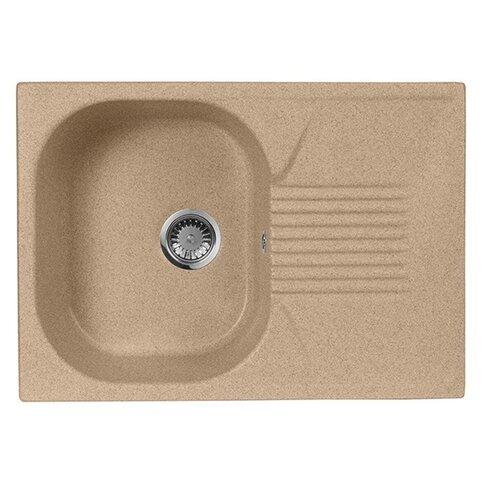 Фото - Врезная кухонная мойка 69 см А-Гранит M-70 песочный врезная кухонная мойка 61 см а гранит m 09 песочный
