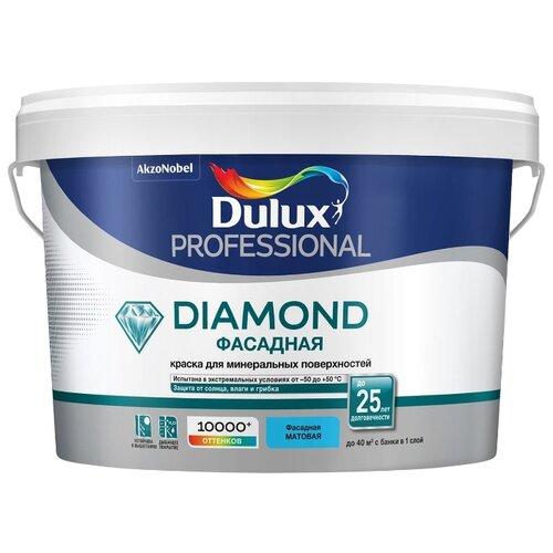 Фото - Краска акриловая Dulux Diamond Фасадная Гладкая влагостойкая матовая бесцветный 2.25 л краска акриловая alpina долговечная фасадная влагостойкая матовая бесцветный 2 35 л