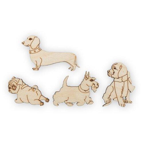 Купить Mr. Carving Набор заготовок для декорирования Собаки ВД-417 (4 шт.) бежевый, Декоративные элементы и материалы
