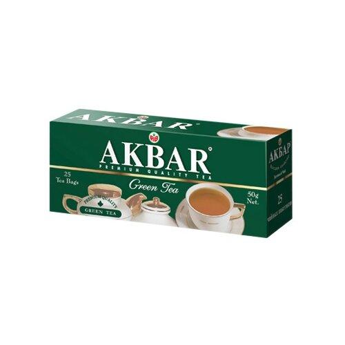 Чай зеленый Akbar Green Tea в пакетиках, 25 шт.