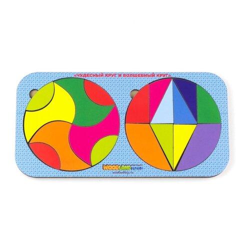 Купить Головоломка Woodland Чудесный круг и волшебный круг (83307) многоцветный, Головоломки