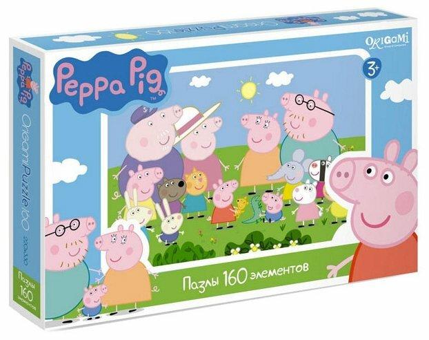 Пазл Origami Peppa Pig Встреча (01543), 160 дет.