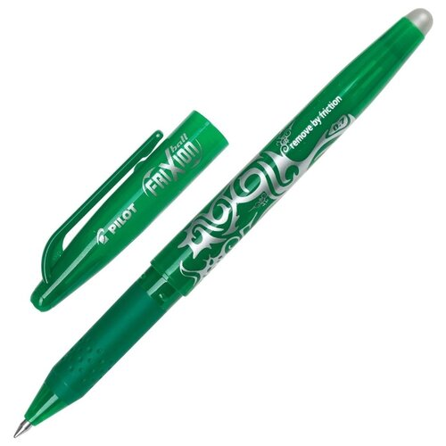 Фото - PILOT Ручка гелевая Frixion 0.35 мм (BL-FR7), зеленый цвет чернил ручка гелевая черная bl p50 b pilot пилот