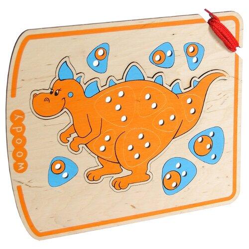 Шнуровка Woody Шнурозаврик-2 (0-1539) оранжевый/голубой.